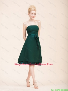 Cheap Empire Strapless Cheap Homecoming Dresses with Belt