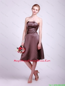 Classical Strapless Short Lovely Perfect Homecoming Dresses with Ruching