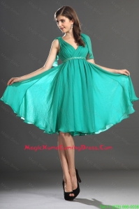 Custom Made Beading and Ruching Homecoming Dresses in Turquoise