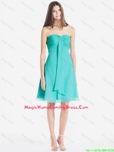 New Arrivals Classical Ruched Short Homecoming Dresses in Turquoise