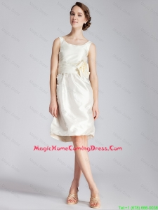 Best Selling Short Hand Made Flowers Homecoming Dresses in White