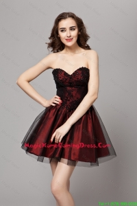 Beautiful A Line Sweetheart Vintage Homecoming Dresses Wine Red Prom Gowns with Beading