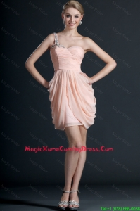 Gorgeous One Shoulder Beading and Pick Ups Short Vintage Homecoming Dresses