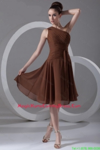 Perfect Short One Shoulder Vintage Homecoming Dresses with Knee Length