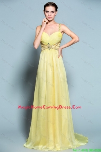Popular Empire Straps Homecoming Dresses with Beading