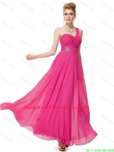 Modern Empire One Shoulder Homecoming Dresses with Beading