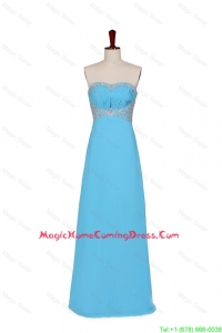 2016 Fall Empire Strapless Homecoming Dresses with Beading in Baby Blue