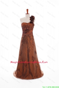 Custom Made Appliques and Hand Made Flowers Homecoming Dresses