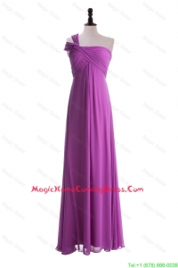 Custom Made Empire One Shoulder Homecoming Dresses with Ruching