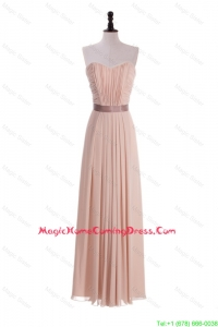 Custom Made Empire Sweetheart Ruching Homecoming Dresses with Belt