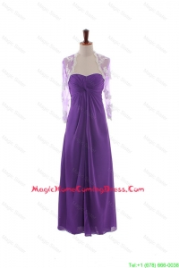 Pretty Empire Strapless Homecoming Dresses with Ruching in Eggplant Purple