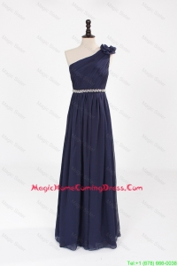 Comfortable Empire Asymmetrical Beaded Homecoming Dresses with Belt
