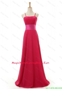 Most Popular Spaghetti Straps Long Red Homecoming Dress for 2016