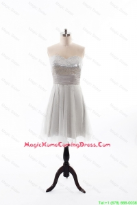 Custom Made 2016 Summer Short Homecoming Dress with Sequins and Belt