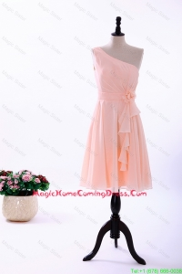 Custom Made Empire Asymmetrical Homecoming Dresses with Ruching