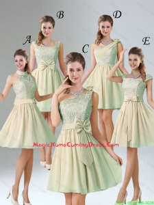 Custom Made A Line Lace Homecoming Dresses with Hand Made Flower
