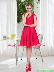Most Popular Straps Homecoming Dresses with Hand Made Flowers