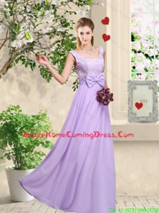 Classical 2016 Bowknot Homecoming Dresses with Floor Length