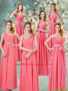 Fashionable Ruched Homecoming Dresses in Watermelon Red