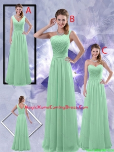 Perfect Zipper up Ruched Homecoming Dresses in Apple Green