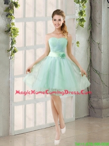 2016 Summer A Line Strapless Ruching Homecoming Dresses in Tulle