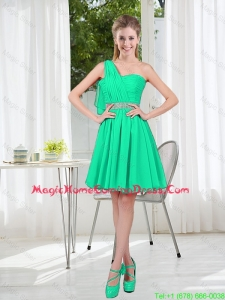 Custom Made A Line One Shoulder Homecoming Dresses