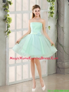 Custom Made A Line Strapless Homecoming Dresses with Belt