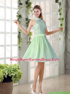 Fashionable 2016 Short Homecoming Dresses with High Neck