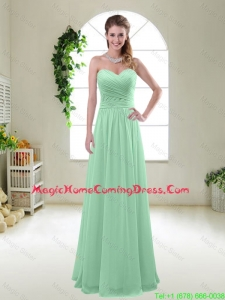 Comfortable Sweetheart Apple Green Homecoming Dresses with Ruching
