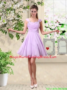 Exclusive Straps Beaded Homecoming Dresses with Mini Length