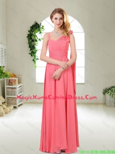 Luxurious Asymmetrical Homecoming Dresses in Watermelon Red