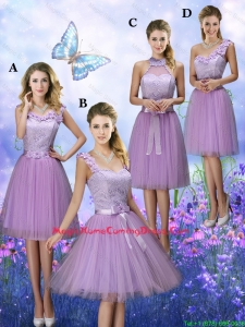 New Style Appliques Tulle Homecoming Dresses with Knee Length