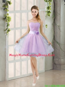 2016 Fall A Line Strapless Ruching Homecoming Dresses with Belt