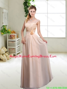 Beautiful Hand Made Flowers Homecoming Dresses with Column
