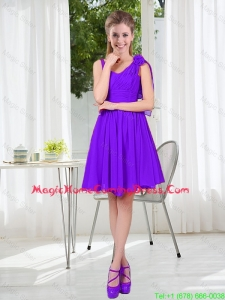 Perfect Straps Homecoming Dresses with Hand Made Flowers for 2016