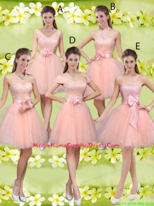 Suitable A Line Hand Made Flowers Homecoming Dresses with Appliques