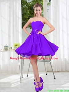 2016 Fall A Line Sweetheart Homecoming Dress in Purple