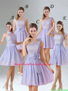 2016 Spring A Line Mini Length Homecoming Dresses in Lavender