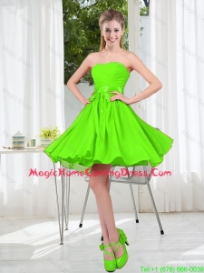 2016 Summer A Line Sweetheart Homecoming Dresses in Spring Green