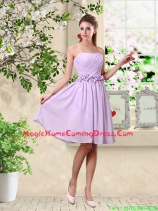 Classical A Line Appliques Homecoming Dresses in Lavender