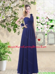 Classical Hand Made Flowers Homecoming Dresses with Asymmetrical
