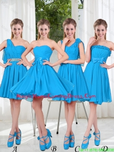 Exclusive 2016 Homecoming Dresses with Ruching in Blue