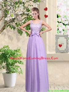 Beautiful Scoop Homecoming Dresses with Lace and Bowknot