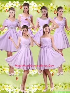 Discount A Line Lavender Homecoming Dresses with Beading