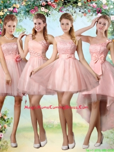 Popular A Line Pink Homecoming Dresses with Lace and Appliques