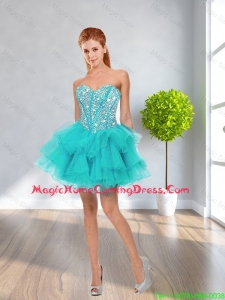 Latest Ball Gown Sweetheart Beaded In Stock Homecoming Dresses in Multi Color
