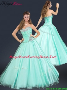 2016 Perfect Sweetheart Beading Homecoming Dress in Apple Green