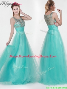 2016 Lovely Empire Scoop Beading Homecoming Dresses