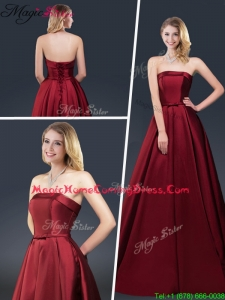 Winter Gorgeous A Line Strapless 2016 Homecoming Dresses with Brush Train