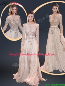 Cheap Brush Train Champagne 2016 Homecoming Dresses with Beading
